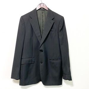 Valentino Gray Pinstriped Wool Sport Coat Size 40